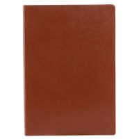 广博(GuangBo)96张A5简约笔记本子记事本皮面日记本 悦彩棕色GBP25667