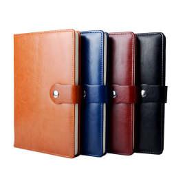申士(SHEN SHI)j4925 4本装 贴芯笔记本子 商务会议带扣记事本