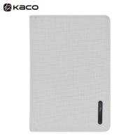 KACO商务会议笔记本子套装思源随身便携本高档校企名片收纳防水防污可提拉面料记事本礼品可定制 灰色