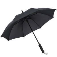 10骨长柄雨伞男黑色直杆礼品伞定做广告伞定制可印字logo 8骨碰击伞黑色