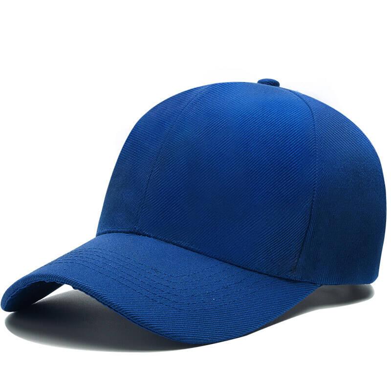 吴衣斯 帽子定制韩版帽子女鸭舌帽定制帽子男太阳帽防晒帽遮阳帽棒球帽光板帽 纯色黑色可定制