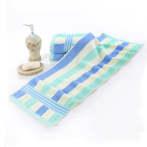 运动洗澡毛巾1.1米棉加长35×110长款柔软运动巾吸汗绣字LOGO 蓝色(1095) 110x35cm