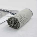 定制logo毛巾运动冷感冰巾健身跑步瑜伽降温神器冰感速干吸汗凉巾 灰色