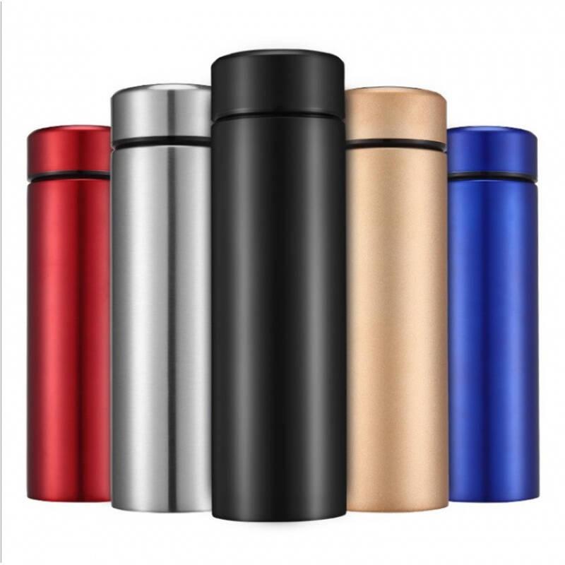 304不锈钢保温杯定制LOGO双层真空水杯商务直身杯子批发 金色 450毫升
