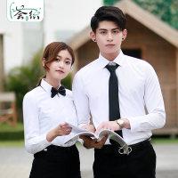 定制男女长短袖衬衣职业装工作服正装定制衬衫绣logo商务白衬衫