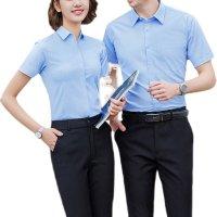 衬衫女装男女同款气质衬衣高级感ol工作服夏季别致上衣定制绣logo