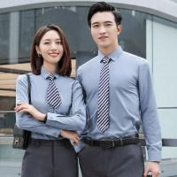 职业衬衫女长短袖免烫气质男女同款经理工作服上班正装衬衣夏定制